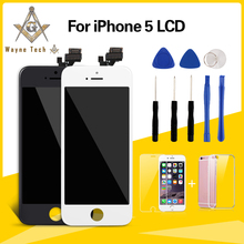 AAA+++ Quality Screen For iPhone 5 5S 5C LCD With Digitizer And Frame Extra Gifts Free Shipping(China)