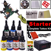 Top Quality Complete Tattoo Kit Digital Permanent Makeup Rotary Tattoo Machine Set Body Art YLT-99 Starter Tattoo Kits(China)