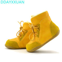2017 new Brand Real Goat Fur Baby Boy Winter Snow Boots Kids Boys Boots Shoes Children Geanuine Leather Australia Ankle Boots(China)