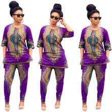 2017 African Dress Women Clothing Limited New Sexy Retro Ethnic Dashiki Fashion Loose Two Sets Of Fitting Pants + Shirt Dress(China)