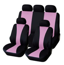 2017 Simple Style Pink Full Car Seat Cover Set Universal Fit Most Car Cases Interior Accessories Seat Covers Embroidery Style