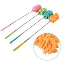 Extendible Home Clean Feather Duster Stretch Extend Chenille Microfiber Dust Household Dusting Brush Car Furniture TV Screen(China)