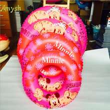 Inflatable Baby Swimming Ring Donut cartoon Seat Swim Float Ring And Child Swimming Pool Circle Baby Seat Rings inflatable toys(China)