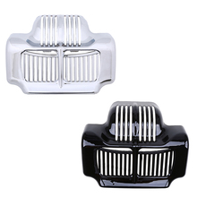 Silver Black Motorcycle Accessories Motocross Stock Oil Cooler Cover for Harley Davidson Street Road Electra Glide Cafe Racer
