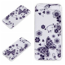 For LG LS775 For Huawei P9/Lite/P8 Flower Clear Soft TPU Case For Sony Xperia XA/Ipod Touch 6 5 6g Henna Mandala Gel Skin 300PCS
