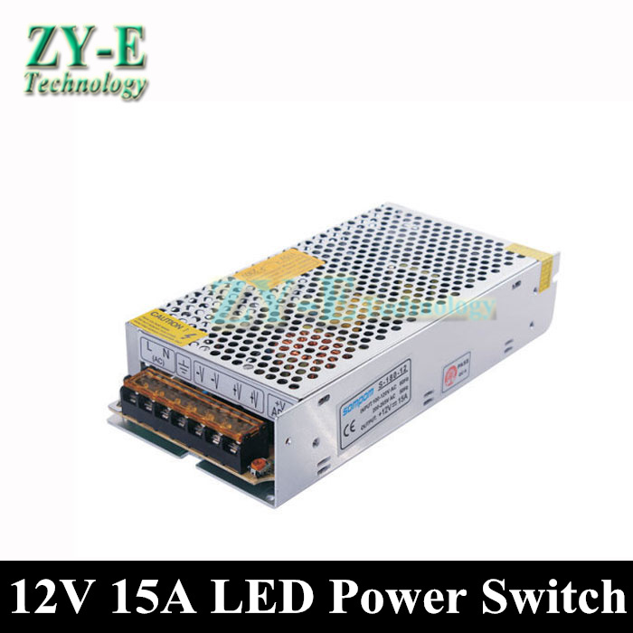 12V 15A 180W Regulated Switching Power Supply Switch Driver led Transformer 5050 3528 Strip Light Display Adapter free shiping<br><br>Aliexpress