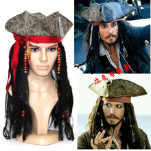 Anime Pirates of the Caribbean Jack Sparrow Hat Cosplay Accessories For Halloween And Masked Ball P0825