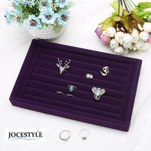Fashion Suede Stud Earrings Ring Jewelry Display Organizer Jewelry Box Case Jewelry Casket Rack for Ring Earring caja HOT SALE(China)