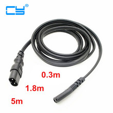 IEC 60320 C8 Plug to C7 Receptacle Male to Female Power Extension cord Supply Main Adapter Cable 30cm 1ft 1.8m 6ft 5m 16ft