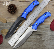 MeiTuo High Hardness Fixed Blade Knife Straight Tactical Diving Knife Camping Outdoor Survival Knife Utility Pocket Tools EDC