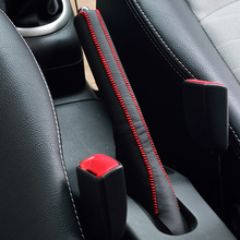 Genuine leather car handbrake cover for Suzuki Swift Customed fit must exactly same with the picture XRH17(China)