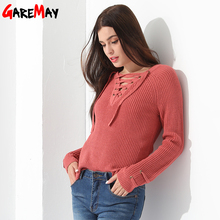 Sweater Women Pullover Slim Long Sleeve Knitted jumper Femme Sexy Tops Ladies Sweaters Knitwear Clothing For Women GAREMAY