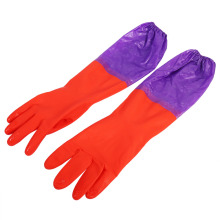 One Pair Cleaning Gloves Long Warm Latex Washing Gloves Waterproof For Winter Kitchen Cleaning Waterproof Household Glove(China)