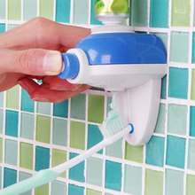 New Design Automatic Auto Toothpaste Dispenser Toothbrush Holder Stand Set Wall Mount 2016 New Free Shipping