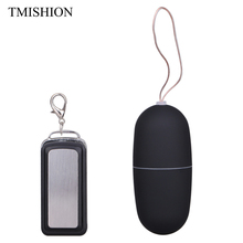 TMISHION Wireless Remote Control Vibrator Egg Bullet Vibrator Waterproof Low Noise Vibrating Sexy Toys For Women Vibrator Eggs(China)