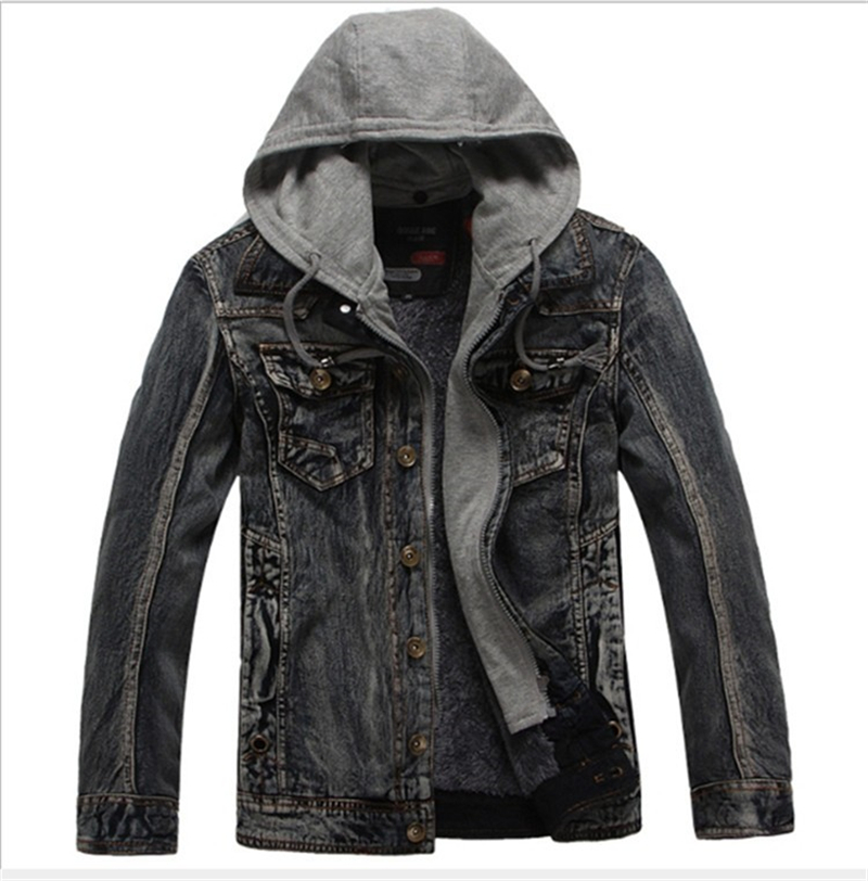 Online Buy Wholesale mens jeans jacket with hood from China mens ...