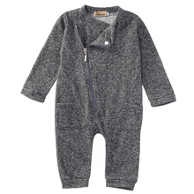 Buy 2016 Newborn Infant Baby Boy Girl Romper Long Sleeve Grey Warm Zipper Pocket Cotton Romper Jumpsuit Baby Romper Baby Clothes Set for $5.97 in AliExpress store
