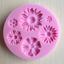 DIY Flower Silicone Handmade Clay Molds Fondant Sugar craft Chocolate Cake Cooking Candy Pastry Baking Mould