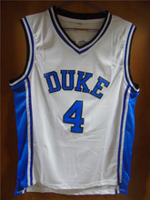 Aembotionen J.J. Redick JJ #4 Duke Blue/White Retro Throwback Stitched Basketball Jersey Sewn Camisa Embroidery Logos