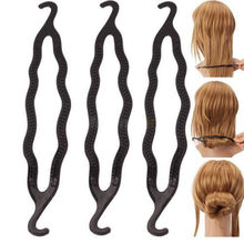 2 PCS Women Lady Fashion Magic Hair Twist Styling Clip Stick Bun Maker Braid Tool Barrette Braider Hair Band Accessories(China)