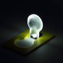 Hot Design Portable LED Card Pocket Light bulb Lamp Wallet Light Put In Purse Wallet Emergency Light Worldwide(China)