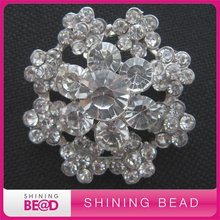 Free Shipping+High Quality+Hot Sale+40mm+2012 New Style Shining Flower Rhinestone Brooch(China)
