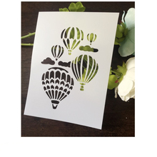Hot Air Balloon Cloud Scrapbooking tool DIY album masking spray painted template drawing stencil laser cut template AP7050266