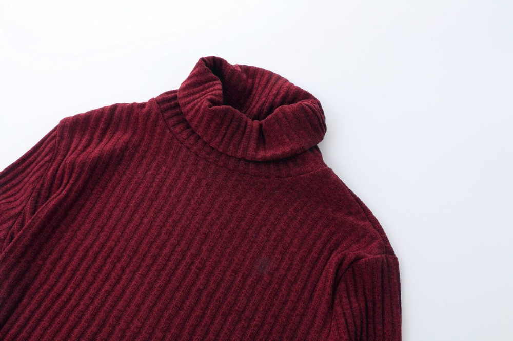 Turtleneck Long knitted pullover sweater, Women's Jumper, Casual Sweater 48