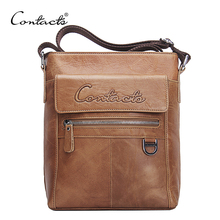 CONTACT'S New Arrival Famous Brands Genuine Leather Messenger Bags Crossbody Bag Briefcase Designer High Quality Shoulder Bag