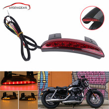 Red Chopped Fender Edge Brake LED Tail Light Turn Signals For Harley Davidson Sportster XL 883 1200 Iron C/5(China)