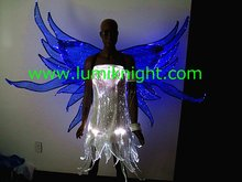 Optical fiber fabric luminous costume/  fairy costume / Animation Ladymotion/Costume Play