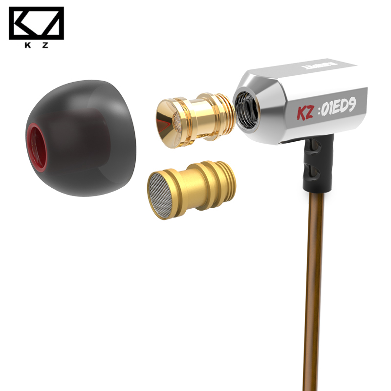 KZ ED9x Super Bowl Tuning Nozzles Earphone In Ear Monitors HiFi Earbuds With Microphone Transparent Sound(China (Mainland))