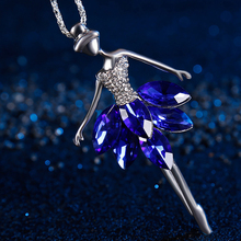 Fashion Crystal Diamond Dance Ballet Girl Figure Car Pendant Automobile Rear View Mirror Decoration Ornaments Creative Gift(China)