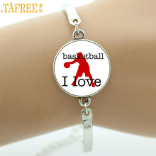 TAFREE 2017 simple fashion Love Basketball bracelets popular casual sports men women ball fans jewelry Cheerleading gifts SP446