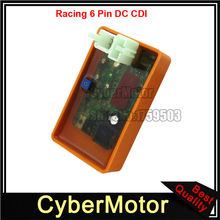6 Pin Performance DC CDI ECU Adjustable REV Ignition Box For Honda Helix CN250 Elite CH250 Scooter Moped
