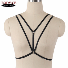 Buy Wholesale 10Pcs Harness Bra Sexy Bondage harness Black Elastic Strap Tops Cage Chest Lingerie Fashion Fetish Goth Garter Belt