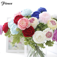 Floace 7pcs/lot Artificial Plant Chinese Herbaceous Peony Wedding Decoration Top Grade Silk Flower Home Decoration Accessories(China)