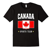 CANADA T-shirt Canadian Flag Maple Leaf Logo Soccering Footballer New T-Shirts Men Fashion  Top Tee Short Sleeve Tops Top Tee