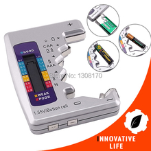 Tri-color Universal LCD Bar Graph Display C D N AA AAA 9V 1.5V Battery Tester Batteries Checker