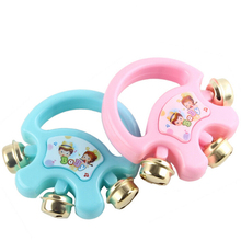 1PCS Baby Handbell Shaker Kids Plastic Rattle Shakers Musical Instrument Party Toy High Quality Children Educational Toys(China)