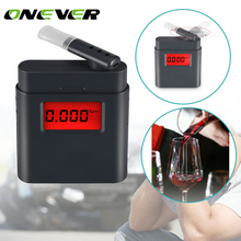 Onever Mini LCD Digital Alcohol Breathalyzer High Accuracy Alcohol Testers for Drivers Three Kinds of Unit Conversion(China)
