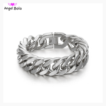 Men Bracelet Jewelry Cuban Links & Chains Stainless Steel Bracelet for Bangle Male Accessory Wholesales Free Shipping