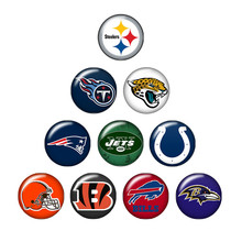 New ZB0387 mixed 10pcs NCAA team logo 18mm/20mm/25mm glass cabochon & snap buttons for DIY jewelry(China)