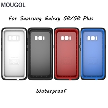 MOUGOL For Samsung Galaxy S8 S8 Plus Waterproof Shockproof Dust Proof Mobile Phone Case