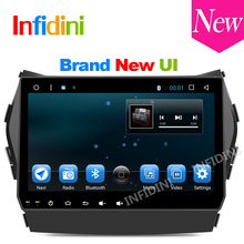 9 inch 1024*600 android 6.0 car dvd gps video radio player 2 din in dash dvd ix45 for Hyundai IX45 Santa fe 2013 pure Android