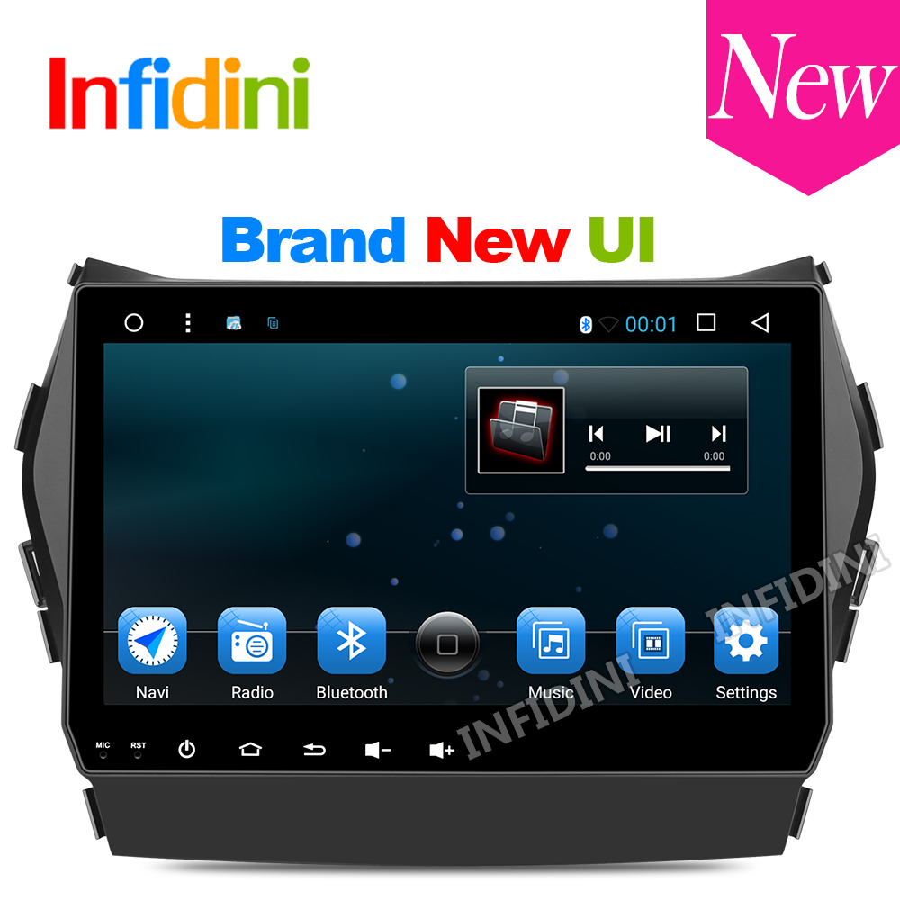 9 inch 1024*600 android 6.0 car dvd gps video radio player 2 din in dash dvd ix45 for Hyundai IX45 Santa fe 2013 pure Android(China (Mainland))