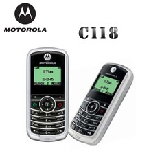 Cheap MOTOROLA C118 Original Mobile Phone GSM 900/1800MHz Refurbished+Battery+Charger