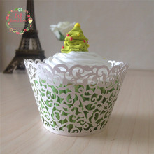 50pcs lace cupcake wrapper laser cut cup cake cups wrappers paper cup wrapper wedding party shower decoration,cake cup