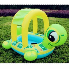 2017 baby swimming seat children swim ring with shed sun protective thicken turtle swimming lap for new swim baby girls or boys(China)