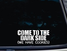 "Car Styling COME TO THE DARK SIDE (We have Cookies) - 8"" x 3 1/2""  vinyl decal for window, car, truck, tool box"
